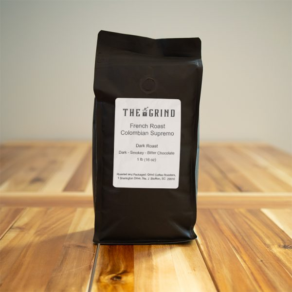 French Roast Colombian Supremo Coffee | The Grind Coffee Roasters